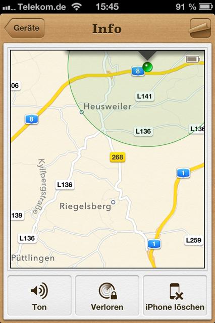 """Handyortung App: """"Mein iPhone suchen"""""""